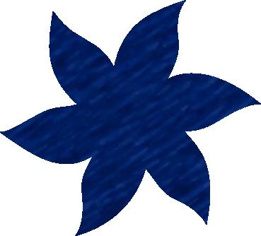 Fleur papier crépon bleu france