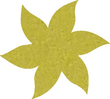 Fleur papier crépon jaune paille
