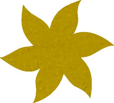 Fleur papier crépon jaune citron