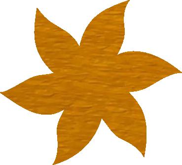 Fleur papier crépon jaune or