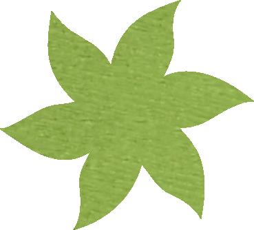 Fleur papier crépon vert pomme