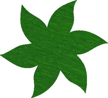 Fleur papier crépon vert pré