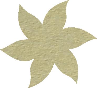 Fleur papier crépon ivoire