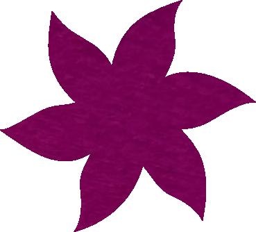 Fleur papier crépon cyclamen