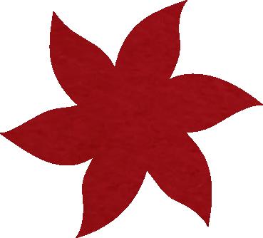 Fleur papier crépon rouge