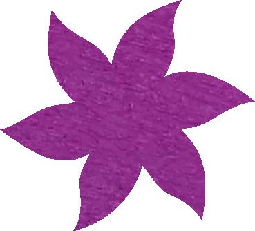 Fleur papier crépon mauve