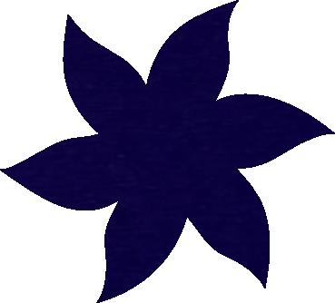 Fleur papier crépon violet