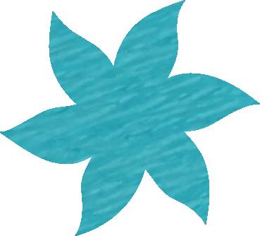 Fleur papier crépon bleu turquoise