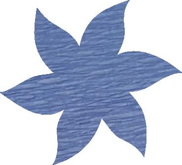Fleur papier crépon bleu ciel