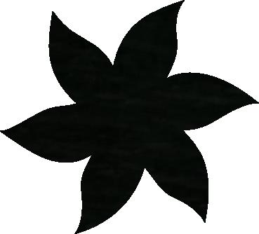 Fleur papier crépon noir