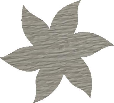 Fleur papier crépon gris clair