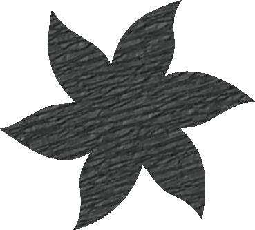 Fleur papier crépon gris foncé