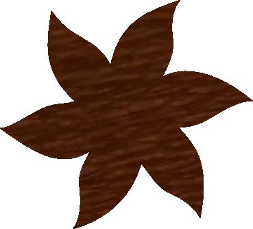 Fleur papier crépon marron