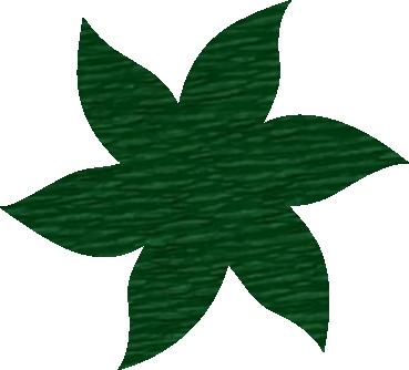 Fleur papier crépon vert empire