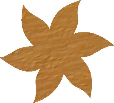 Fleur papier crépon abricot