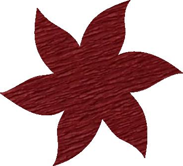 Fleur papier crépon brique