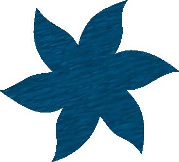 Fleur papier crépon bleu pétrole