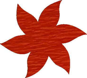Fleur papier crépon orange