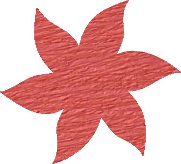 Fleur papier crépon rose moyen