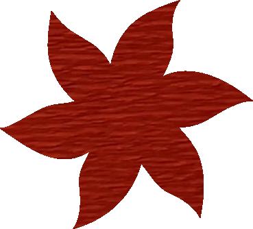 Fleur papier crépon cognac