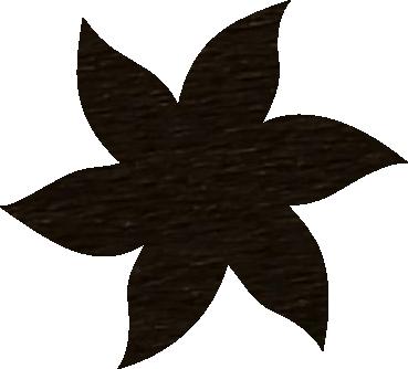 Fleur papier crépon chocolat
