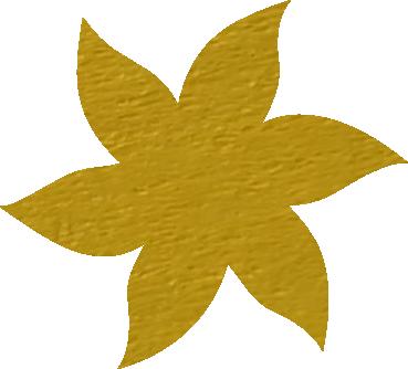 Fleur papier crépon mangue
